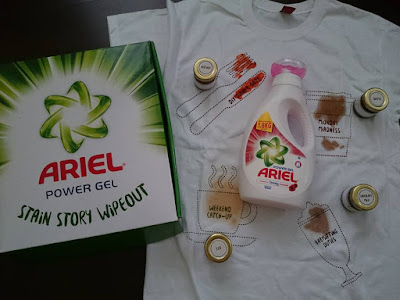 Ariel Power Gel Stain Story Wipeout: The DIY Dinner Date