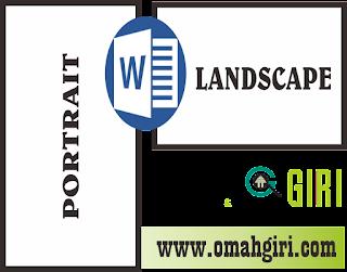 Membuat Tampilan Portrait Dan Landscape Dalam Satu File Di Microsoft Word