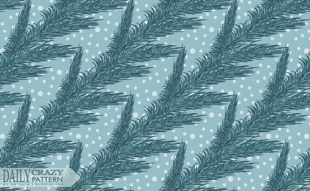 Fir-tree branch pattern