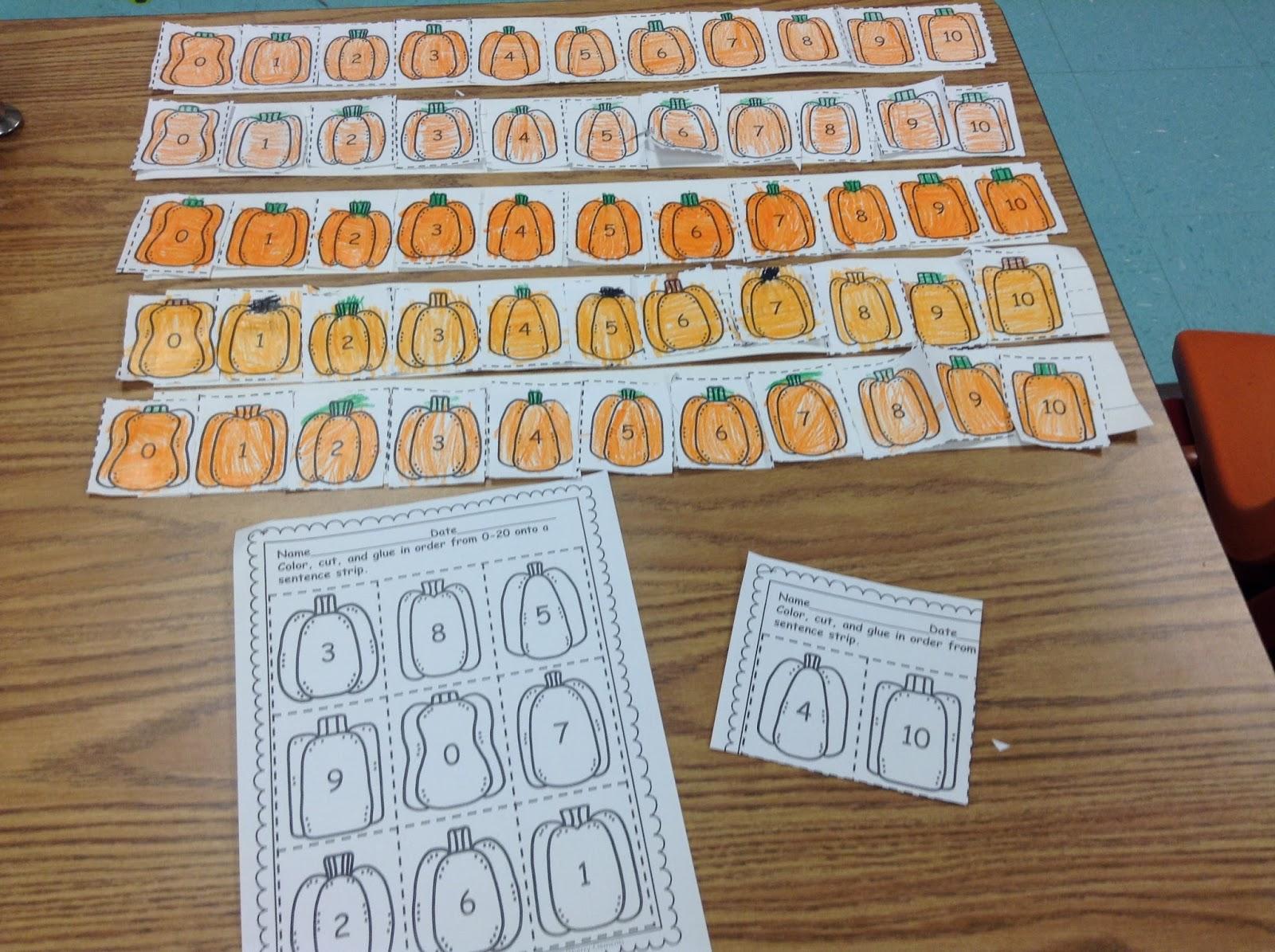 Dr Clements Kindergarten Number Sequencing 0 20 And Number Words Zero Ten