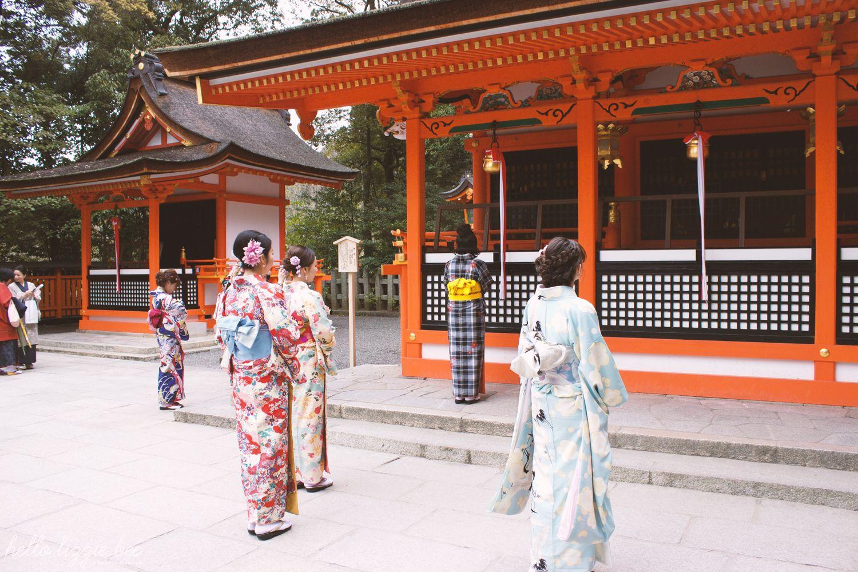 fushimi inari taisha, kimono, japan