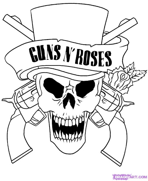 Skull Adult Fantasy Vampire Guns Roses Coloring Pages  If You