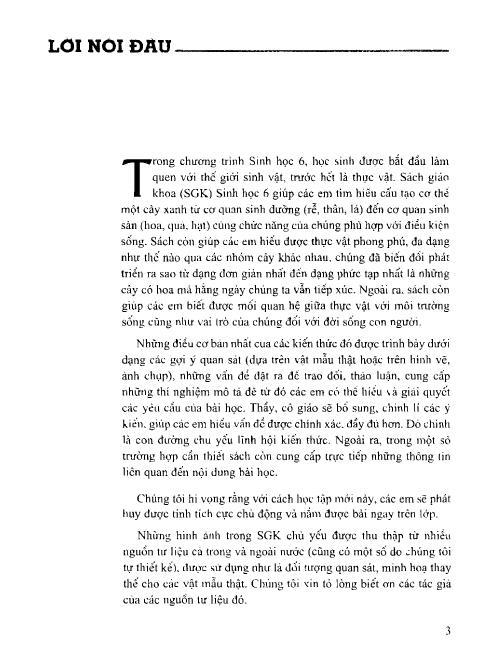 Trang 4 sach Sách Giáo Khoa Sinh Học Lớp 6