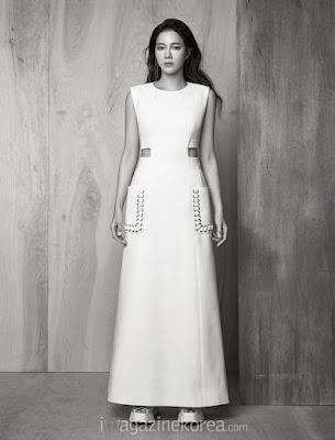 Lee Ji Ah - Harper's Bazaar Magazine March 2016