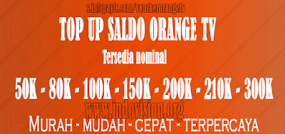 Voucher Orange TV Online Murah Terpercaya