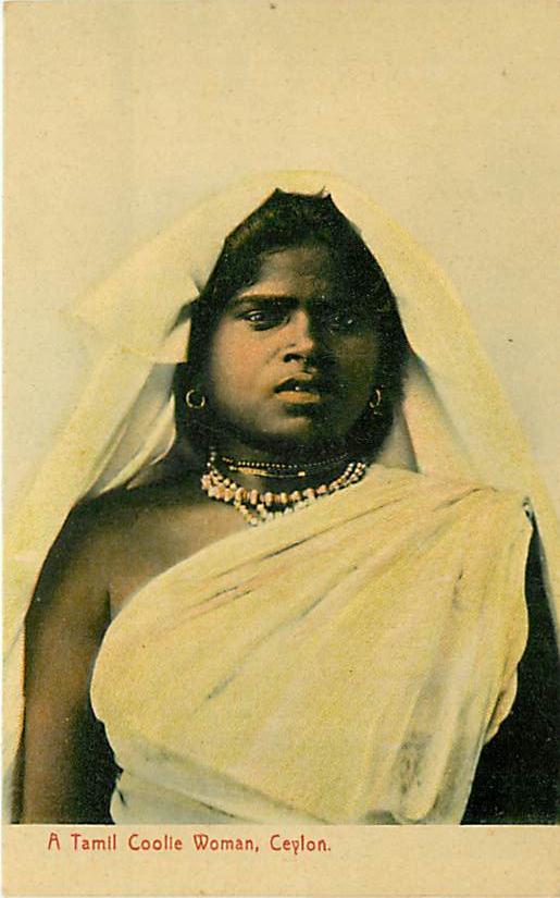 Portrait of a Tamil Coolie Woman - Ceylon (Sri Lanka)