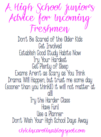 My advices to upcoming high school