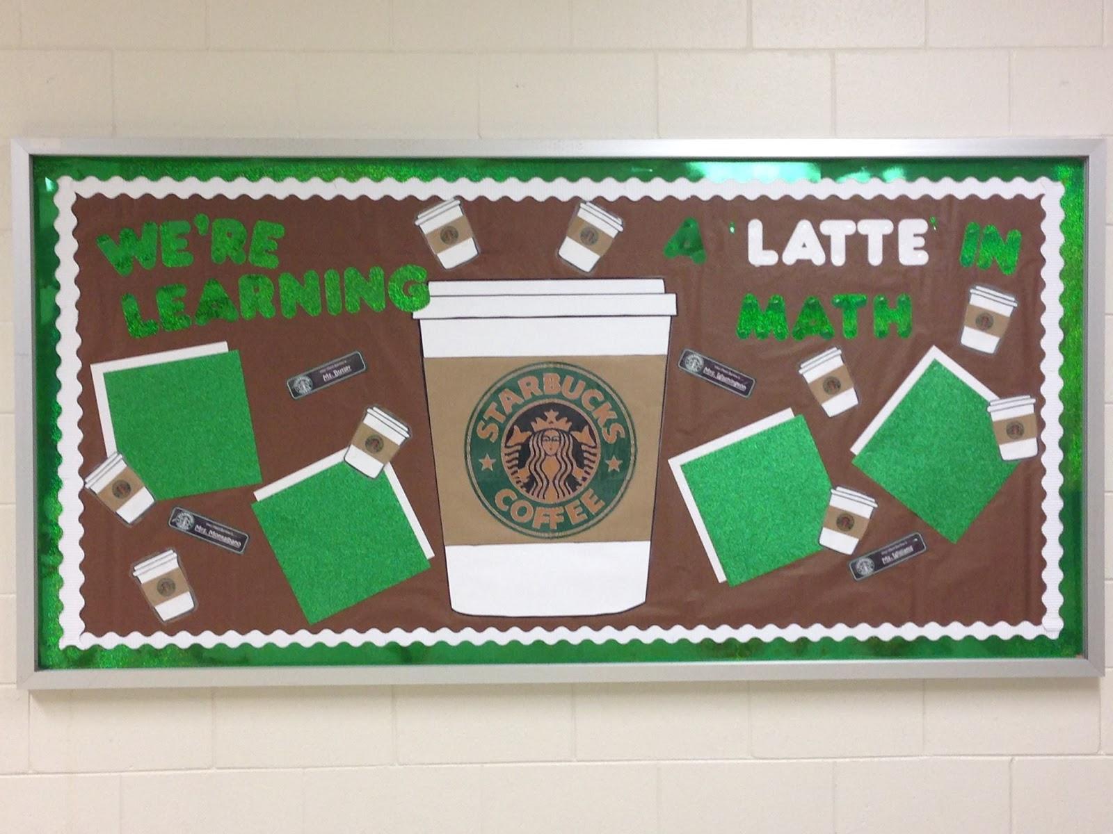 Classroom Theme Ideas Cafe ~ Simply the crafty life bulletin boards