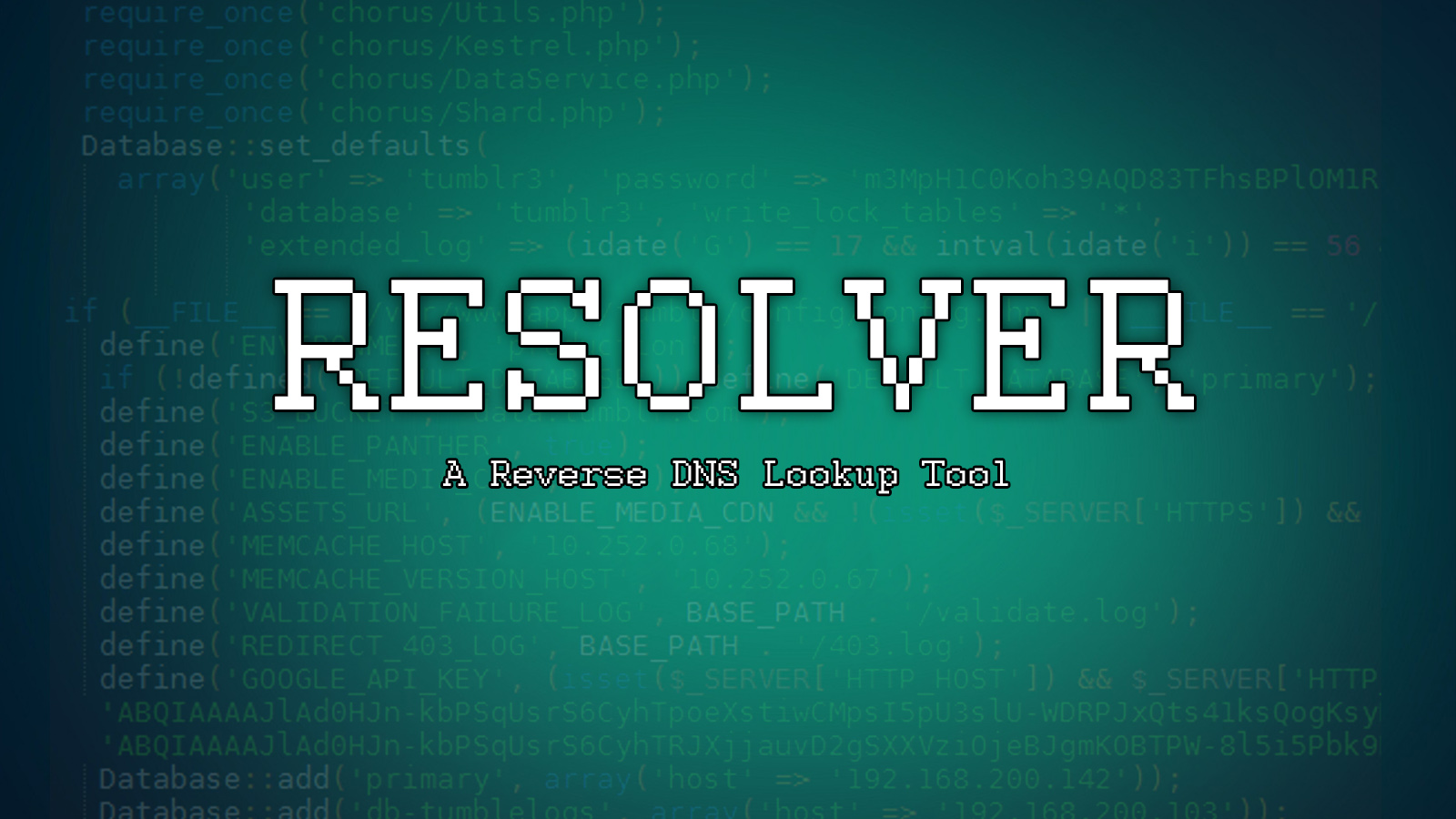 Resolver - A Reverse DNS Lookup Tool