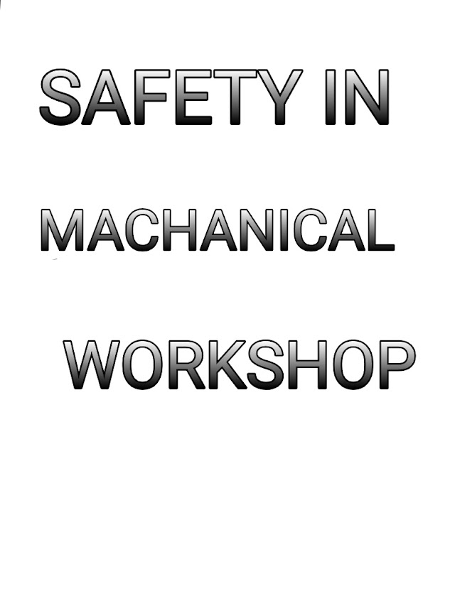 apply safety element to first aid for macanical workshop.