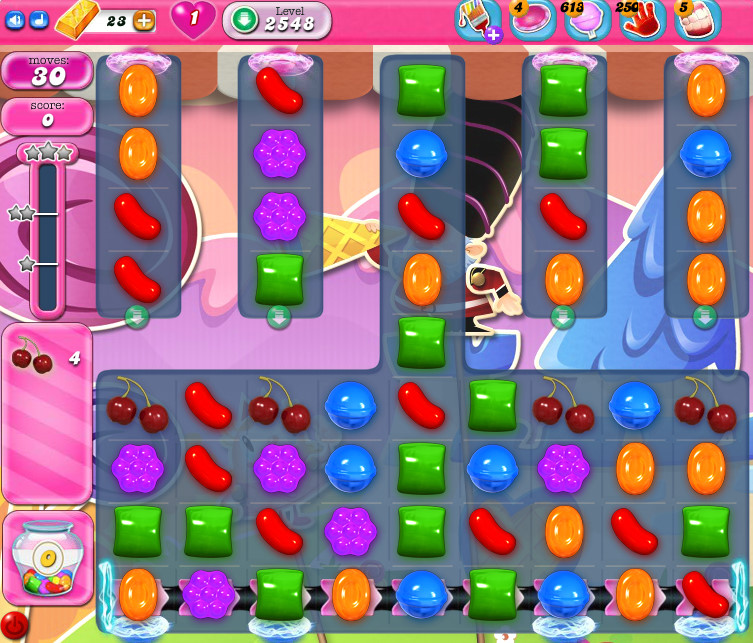 Candy Crush Saga level 2548