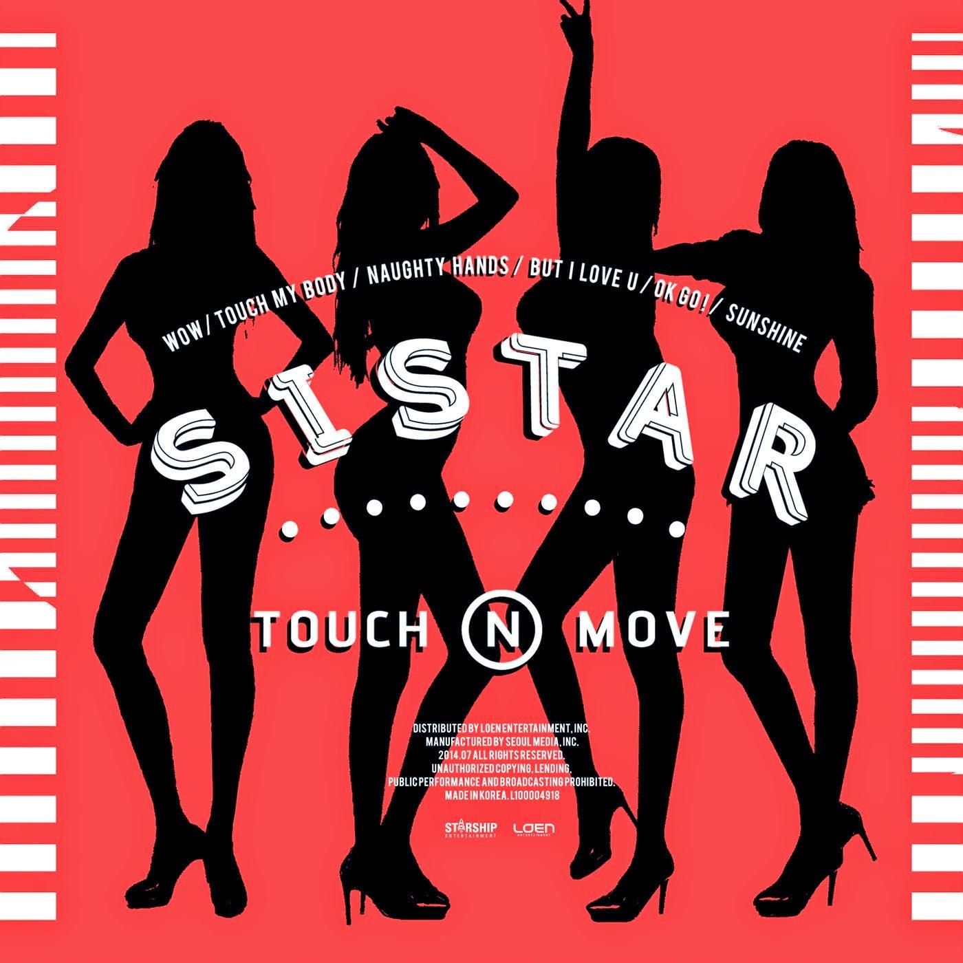 Lirik dan Terjemahan Indonesia SISTAR 'Touch My Body' [Hangeul] [Romanisation]