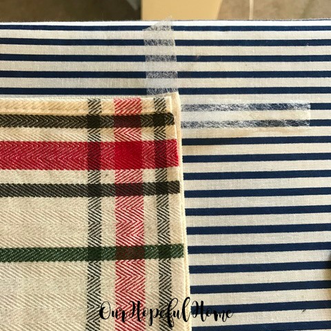 plaid placemat Target placemat DIY CHristmas pillow