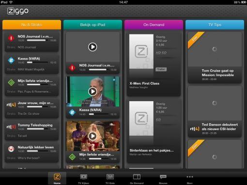 Ziggo gestopt met Live TV app - Hd technieuws: alles over digitale media