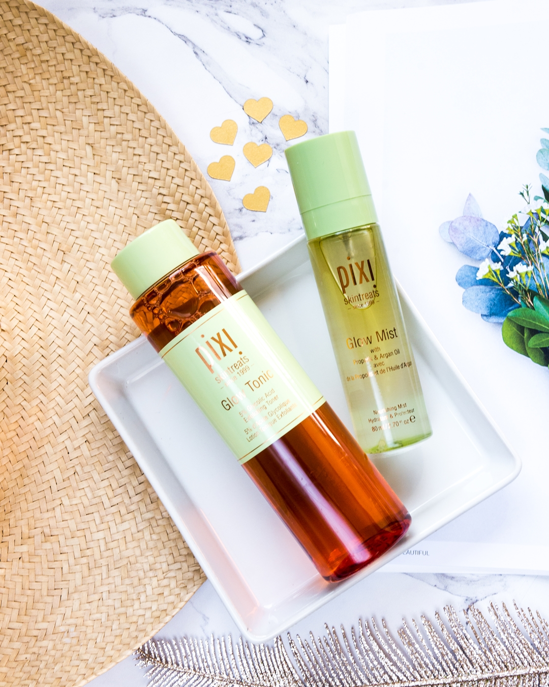 Pixi Beauty | Glow Tonic, Glow Mud Cleanser, Glow Mist oraz Glow O2 Oxygen Mask