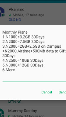 Glo 3.2GB for N1000