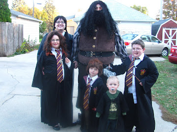 Harry Potter Halloween (Hermione, Moaning Myrtle, Hagrid, Ron, Draco, Harry)