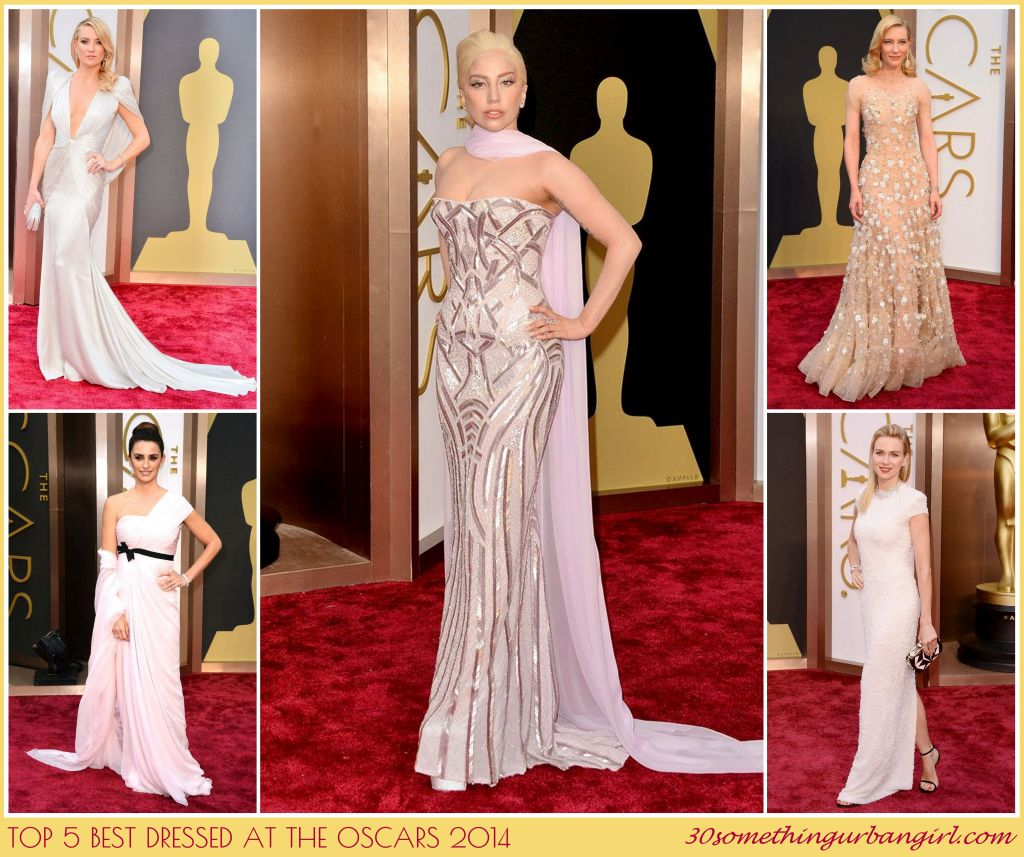 Top 5 best dressed in light colors at the Oscars 2014