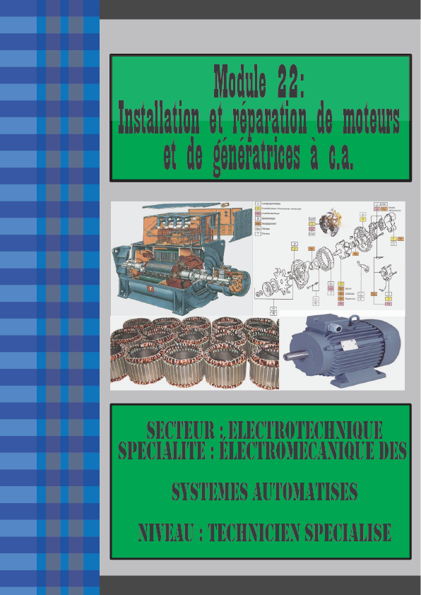 Module 22: Installation et réparation de moteurs et de génératrices à c.a