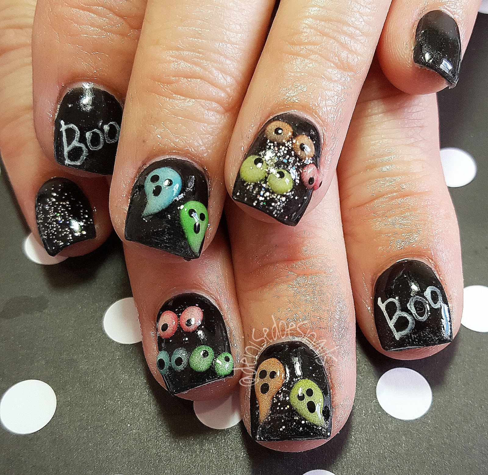 Nail Art by Denise Groves: A Little Early Halloween