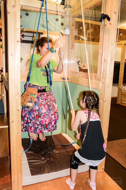 Mitmach-Ausstellung Total Genial Flaschenzug