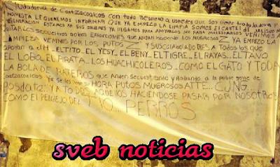 Amanece Narco-manta firmada por el CJNG en Coatzacoalcos Veracruz