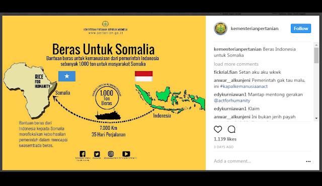 """Parah! Program """"Beras untuk Somalia"""" ACT, Diklaim Pemerintah Jokowi, Netizen Protes"""