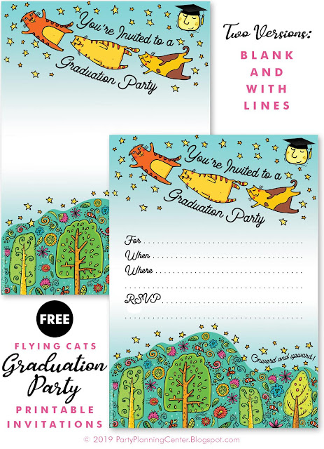 printaable graduation party invites download