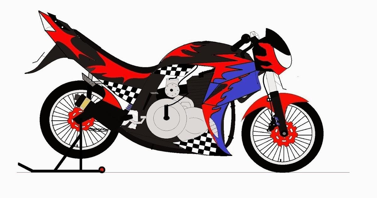 Konsep Terpopuler 42 Gambar Motor Drag Cartoon