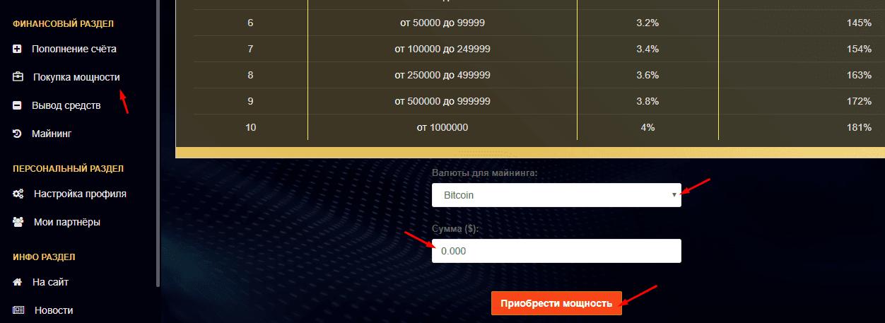 Регистрация в Mining-x100 4