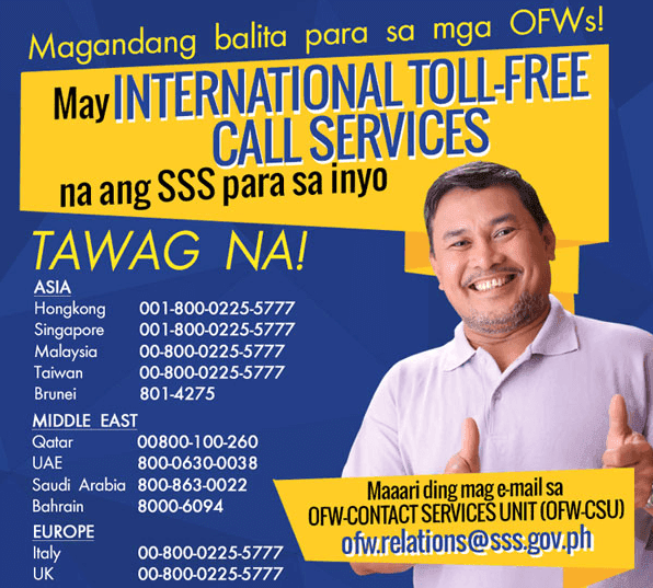 SSS International Toll-Free Numbers