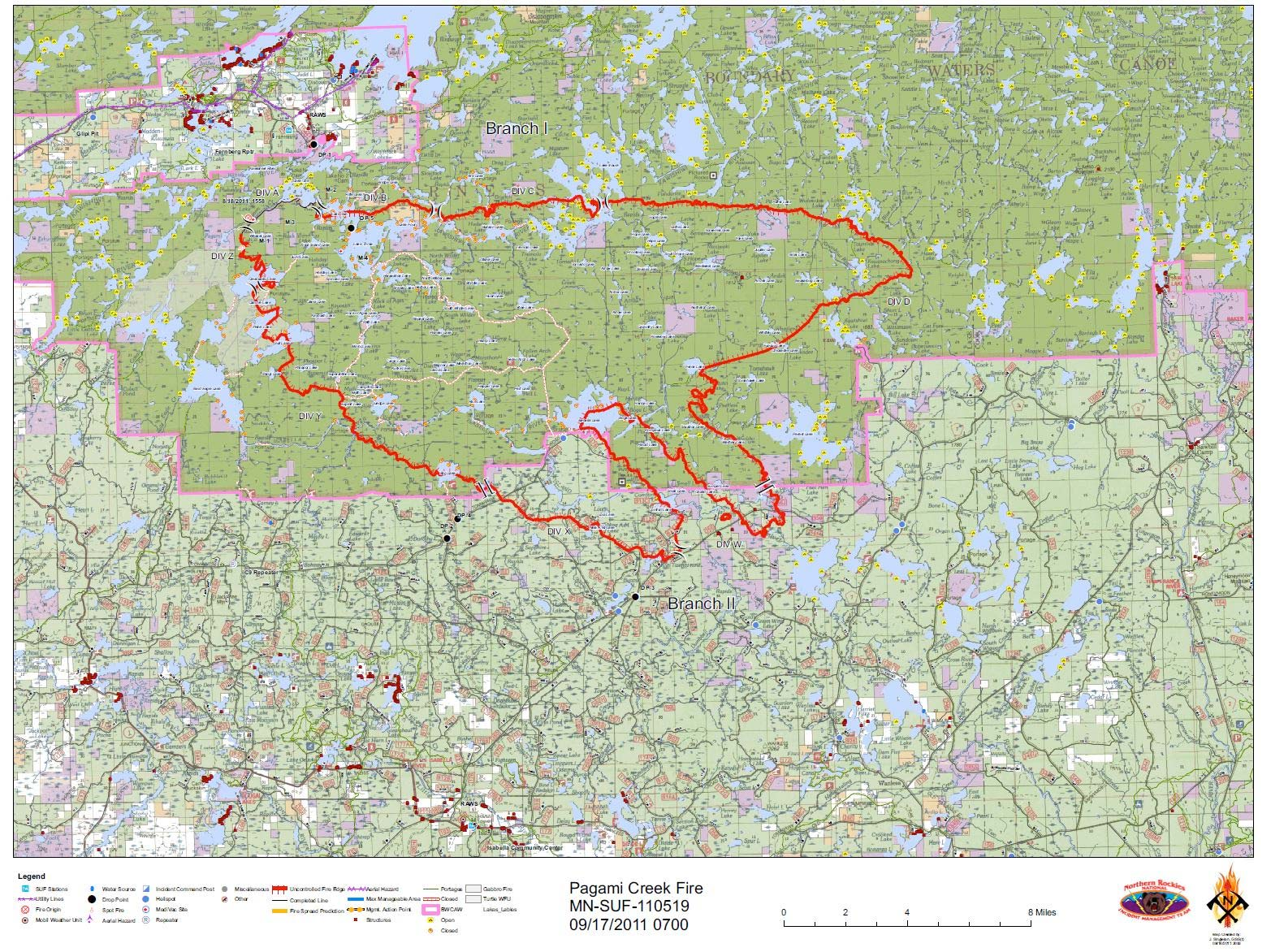 Pagami Creek Fire Map.Piragis Northwoods Company Boundary Waters Blog Monday September 19