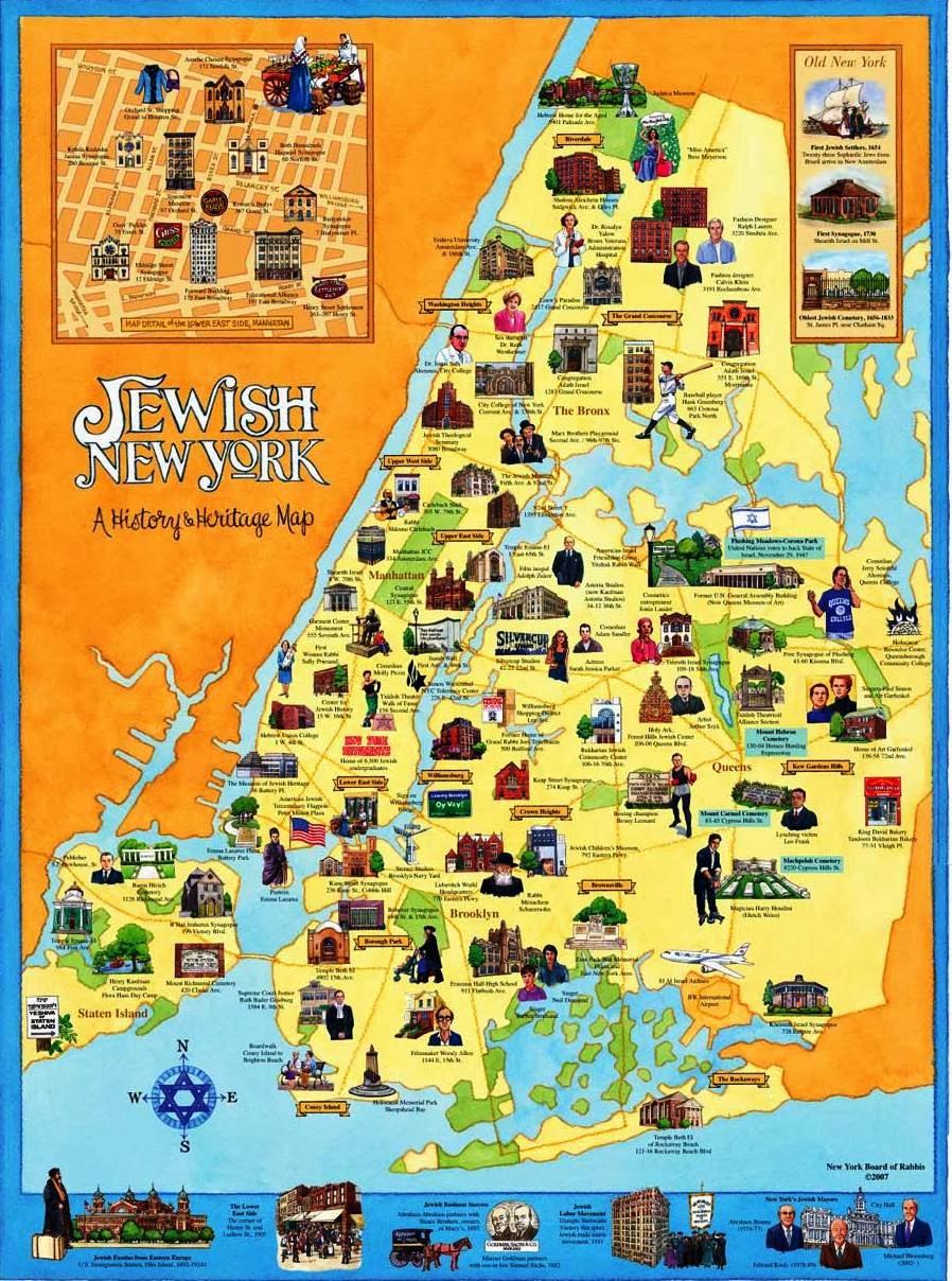 New York jewish map