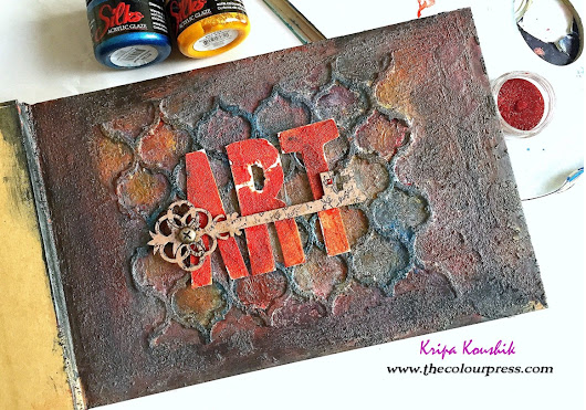 Video Tutorial : 'Art' Journal using 2crafty chipboard and Colourarte