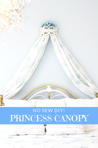 DIY BED CROWN CANOPY