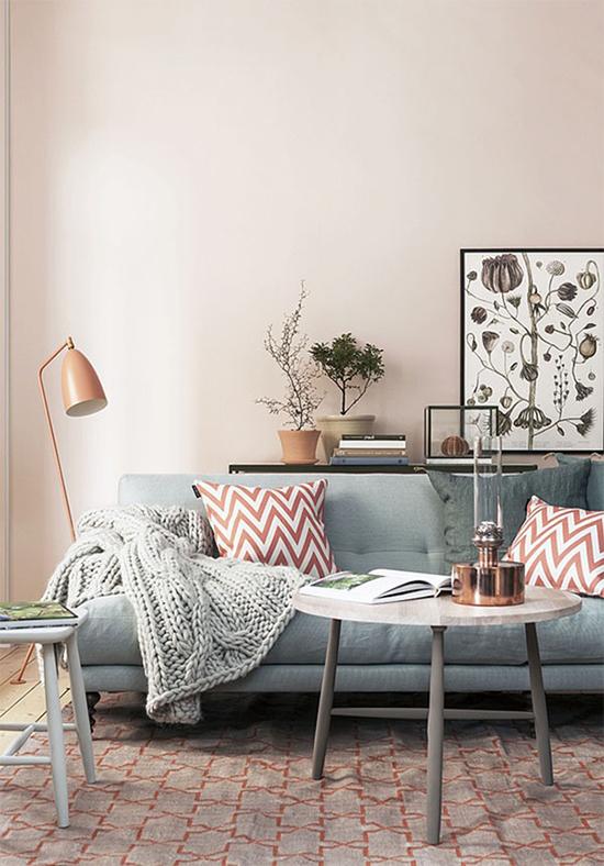 pantone 2016, rosa quartzo, azul serenidade, rose quartz, serenity, comoda colorida, parede colorida, quarto, bedroom, decoração, sala de estar