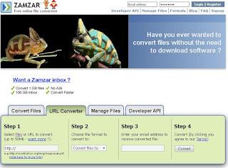 موقع تحويل صيغ الملفات اونلاين Zamzar