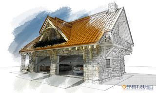 Дом-гараж в стиле Шале, площадью 276 м2