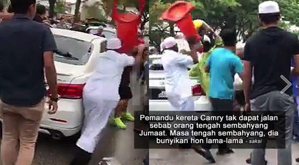 Gara-gara Bunyikan Hon Dan Terlanggar Seorang Lelaki, Pemandu Camry Teruk Dibelasah - Saksi