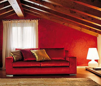 Red sofa, would color the walls? 6