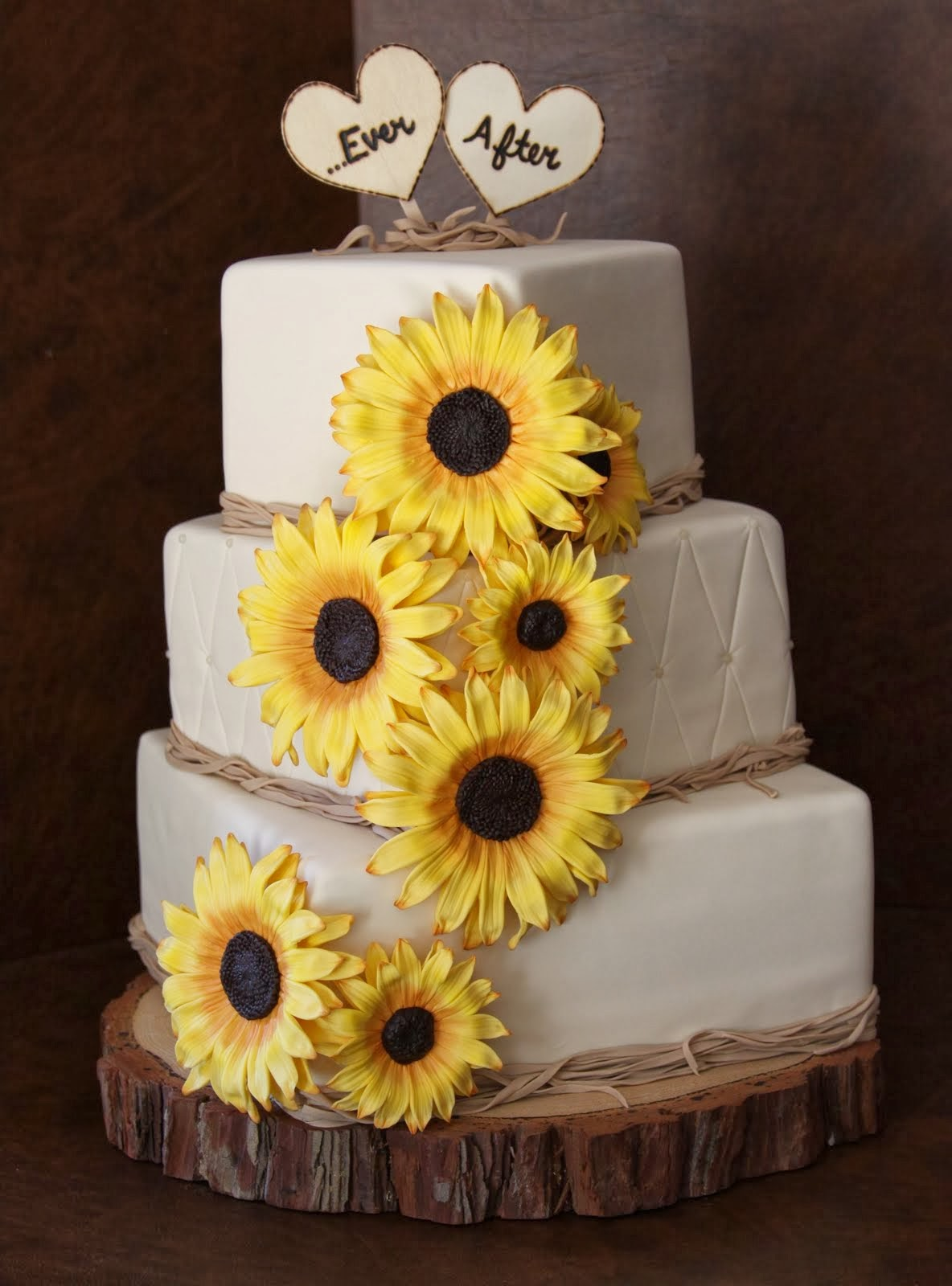 Chocolate Cake With Sunflowers