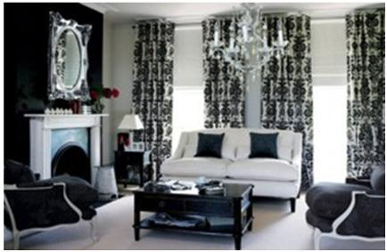 blue black and white living room decoraci 243 n de interiores salas color blanco decorar 25964