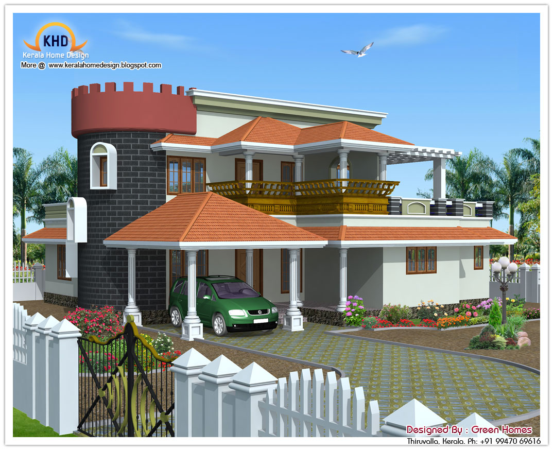 October 2011 kerala home design and floor plans for Indian house elevation photo gallery