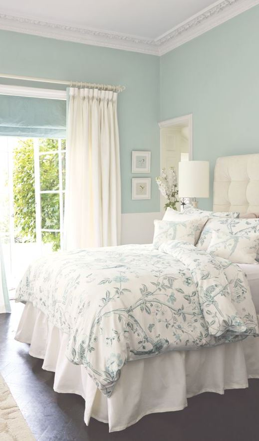 60 brilliant ideas for introduce pastels into your interior for Simple bedroom color ideas