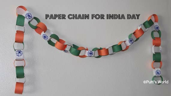 Paper Chain For Indian Independence Day Putti S World Kids Activities