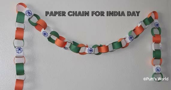 paper chain for indian independence day putti 39 s world kids activities. Black Bedroom Furniture Sets. Home Design Ideas