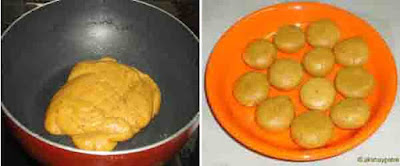 make small peda from the mixture