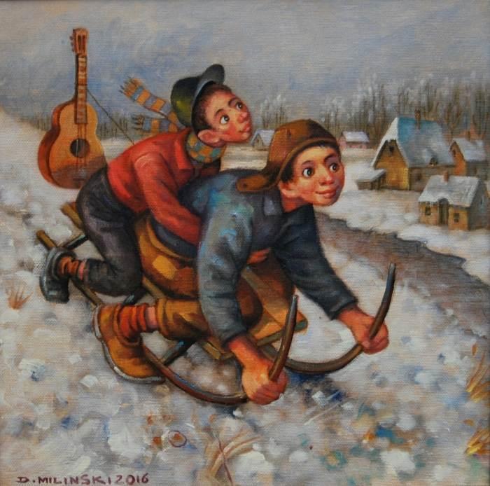 Польский художник. Dariusz Milinski
