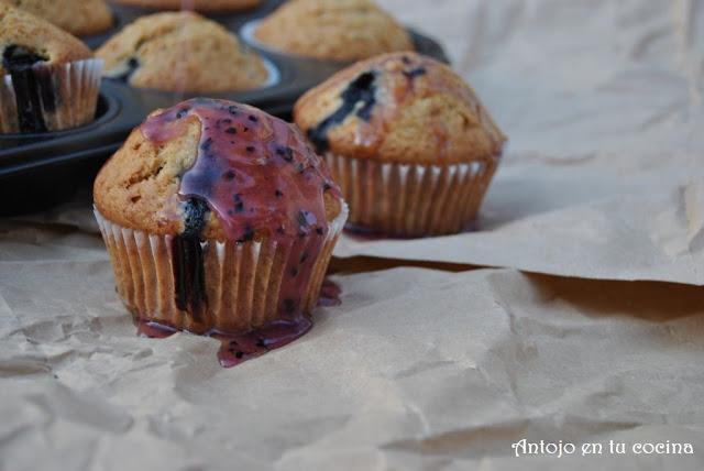 muffins-te-arandanos