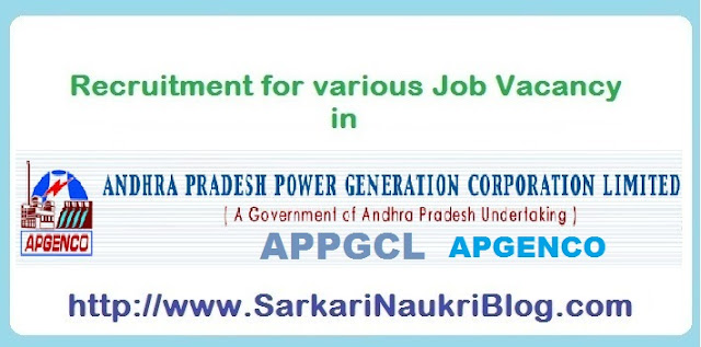 Naukri Vacancy Recruitment in  APGENCO